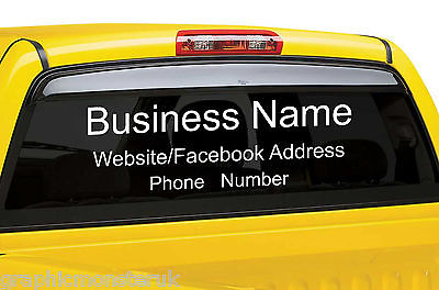 Window Vinyl Decal Text Web Adress Business Name Phone Number Taxi - Facebook window stickers for business uk